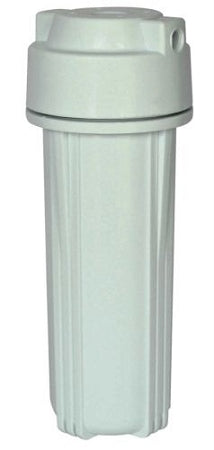 "Water Filter Housing Standard 10"" for RO 1/4"" port (White) Double O Ring High Pressure"