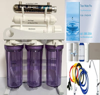 RO Reverse Osmosis Water Filter 6 Stage - UV Light 1GPM pH Neutralizer 200GPD