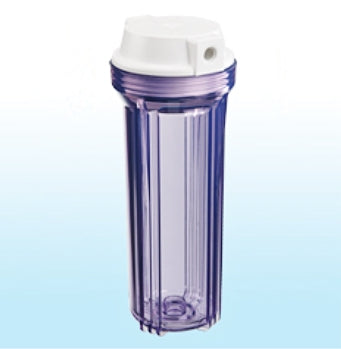 WATER FILTER CLEAR HOUSING FOR REVERSE OSMOSIS DI 10""