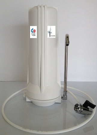 Countertop Single Stage Drinking Water Filter - Carbon Filter - Complete Unit