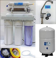 Reverse Osmosis DI/RO Water Filter Systems - Dual Outlet - 6 Gallon Tank - TFC-2012-200 Membrane