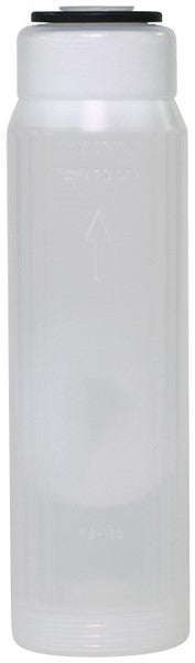 "Empty refillable cartridge water filter, DI, carbon, other media 10"" housing EC-2510W"