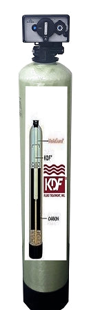 WHOLE HOUSE WATER FILTERS SYSTEMS KDF85/GAC IRON/HYDROGEN SULFIDE TIMER BACKWASH 1.5CU FT