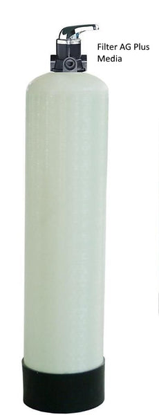 Whole house sediment water filter with Manual Back Wash Valve 1054 1.5CU FT Filter AG Plus