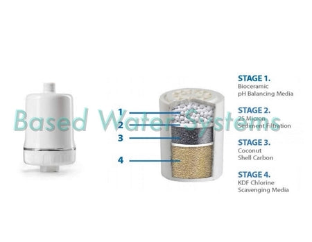 HydroGuard 4-stage Shower Filter pH Balancing,Sediment,GAC & KDF