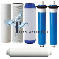 REVERSE OSMOSIS RO 6 FILTERS/MEMBRANE REPLACEMENT SET 200 GPD MEMBRANE - LC Unit