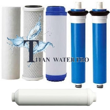 REVERSE OSMOSIS RO 6 FILTERS/MEMBRANE REPLACEMENT SET 400 GPD MEMBRANE - LC Unit