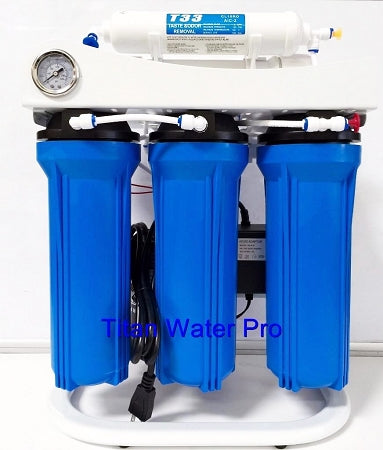 TWP Light Commercial Reverse Osmosis Water Filter System 300 GPD 5 Stage