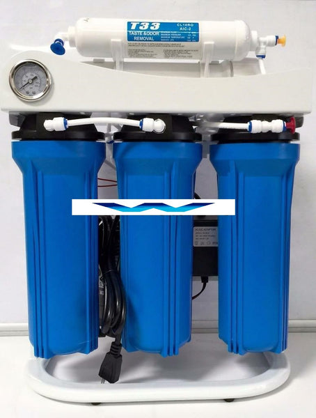 Light Commercial Reverse Osmosis Drinking Water Filter System 400 GPD-Booster Pump