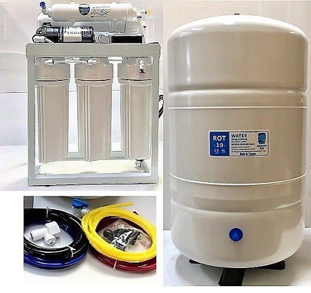 Reverse Osmosis Water Filter System TFC-2012-200 (ROT-10 G Tank) Light Commercial