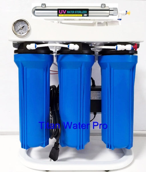 Reverse Osmosis Water Filter System 5 Stage - UV Sterilizer - 150 GPD