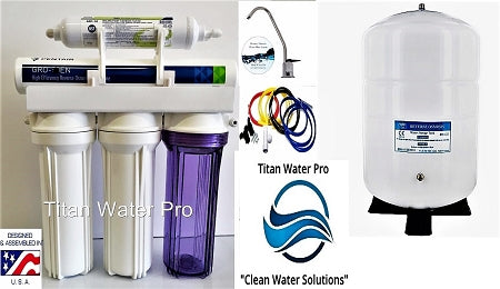 RO-Reverse Osmosis Water Filtration System 1:1 Ratio Pentair GRO75 Hi Recovery