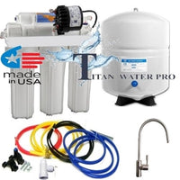 Reverse Osmosis Water FIlter 5 Stage - Permeate Pump ERP 500 Upgrade Brush Nickel Faucet
