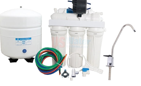 Reverse Osmosis Water Filter with Permeate Pump 5 Stage + Mineralizer - 6 Gallon Tank