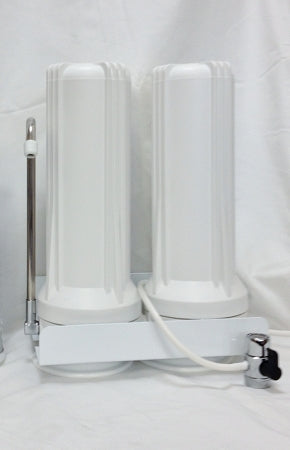 Dual Counter Top Water Filter System for Chlorine, Fluoride & Arsenic removal.