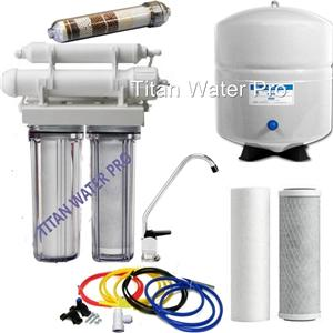 5 Stage Reverse Osmosis 100 GPD Alkaline/Ionizer Neg Orp Water Filter System