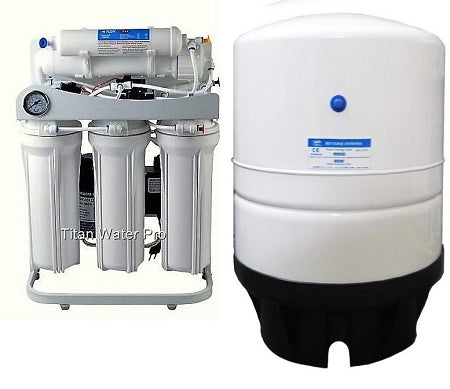 RO Light Commercial Reverse Osmosis Water Filter System 150 GPD- Booster Pump-Pressure Gauge