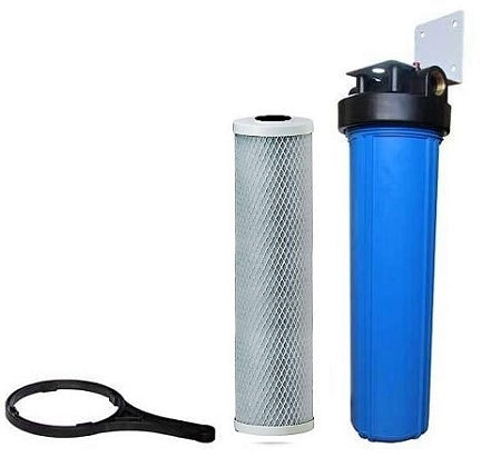 "Big Blue Water Filter - Carbon Block Filter Cartridge - Mounting Bracket 20"" X 4.5"" Filter Cartridge"