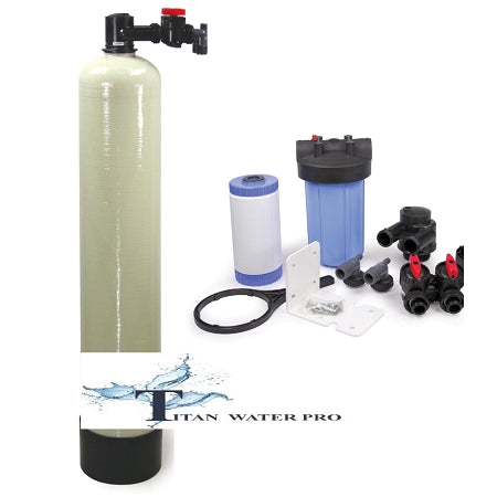 "SALT FREE WATER SOFTENER. 4.5 LITER 15 GPM 10"" X 54"". BIG BLUE CARBON FILTER"