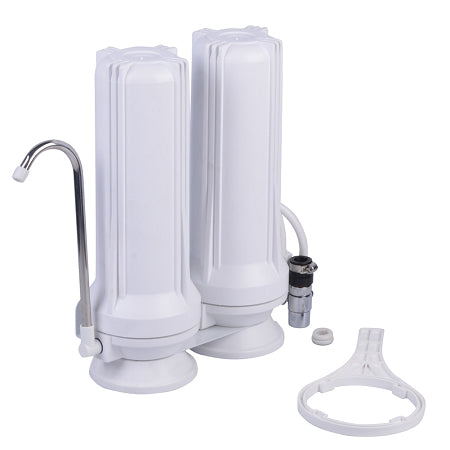 Counter Top Water Filter - 2 Stage Filtration - Sediment & Carbon Filter - VALUE