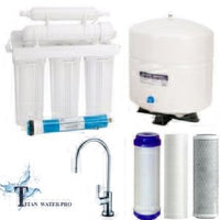 RO Reverse Osmosis Water Filter 5 Stage System - Upgraded Brass Nickel Faucet