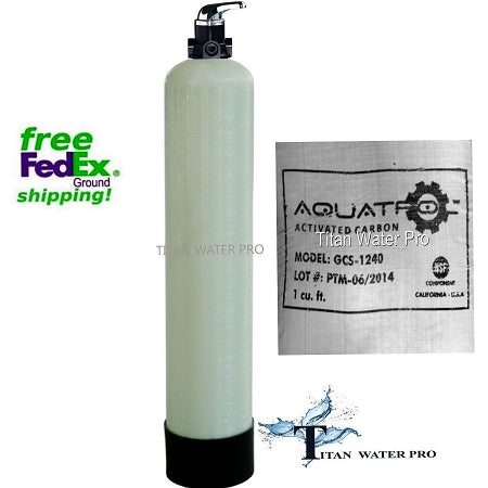 Whole House Water Filter System GAC Carbon .75 CU FT Manual Backwash Valve POE