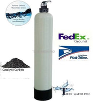 Whole-House Water Filter System Catalytic Carbon 2 CUFT Chloramines,Iron,Sulfide 1252
