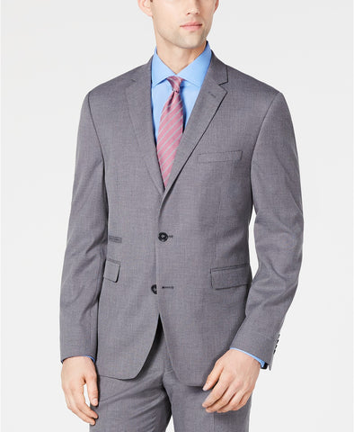 $360 Vince Camuto Slim-Fit Stretch Wrinkle-Resistant Gray Suit Jacket 44R