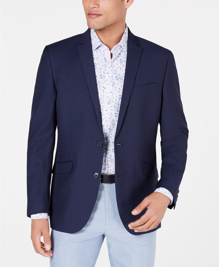 $295 Kenneth Cole Reaction Men's Slim-Fit Sport Coat 44L Navy Blue