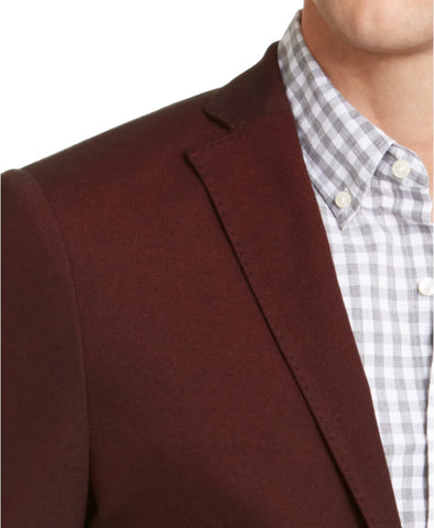 $295 Michael Kors Men's Slim-Fit Sport Coat 42R Wine Burgundy