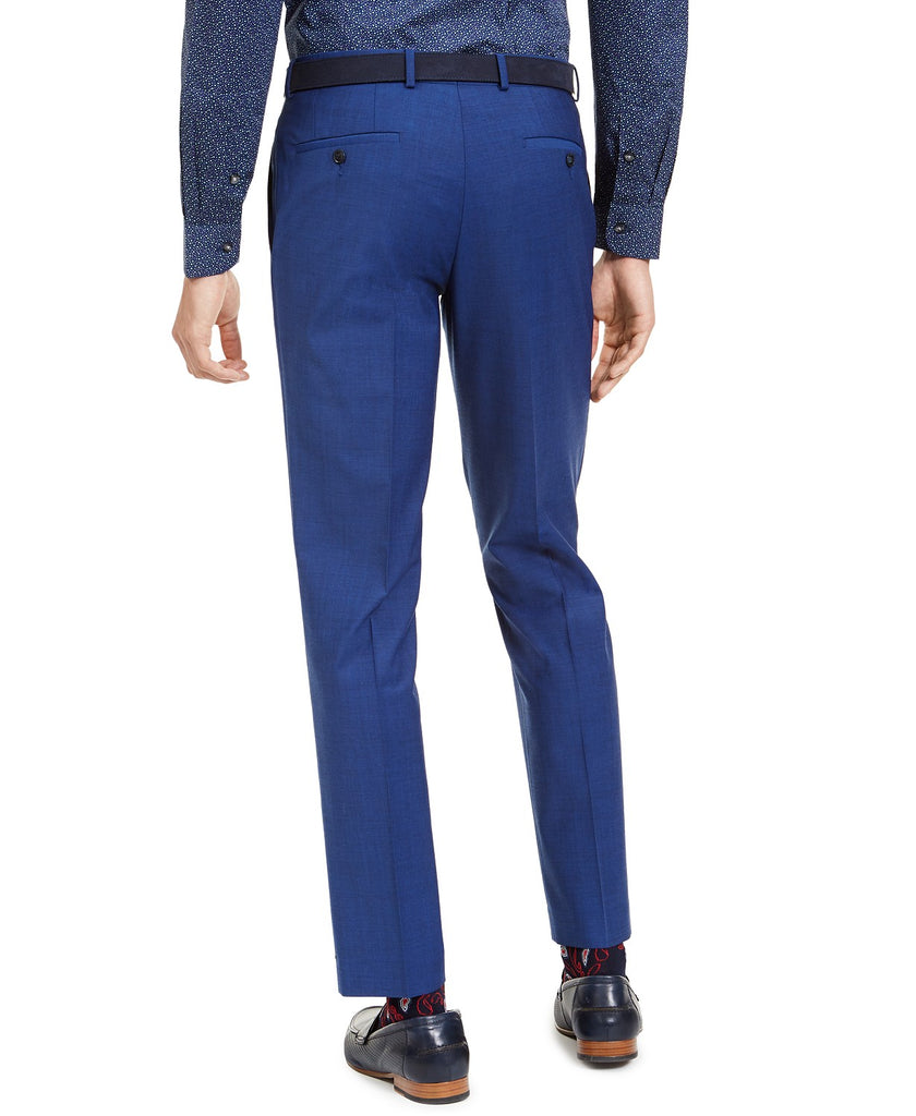 $175 Bar III Slim-Fit PerFormance Active Stretch Blue Sharkskin Pants 32 x 30