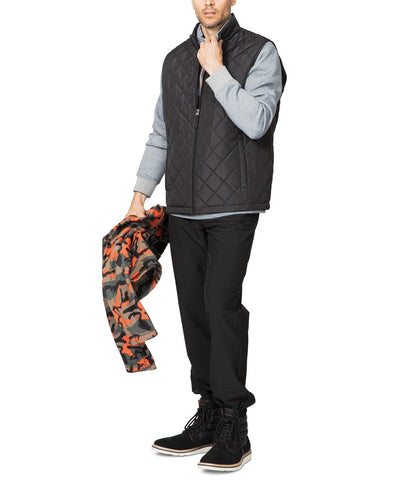 $80 Hawke & Co. Outfitter Men's Quilted Vest XL Black