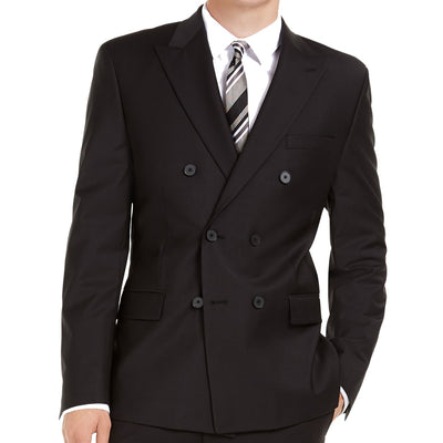 Calvin Klein Slim-Fit Infinite Stretch Black Double-Breasted Suit 40R / 34 x 29