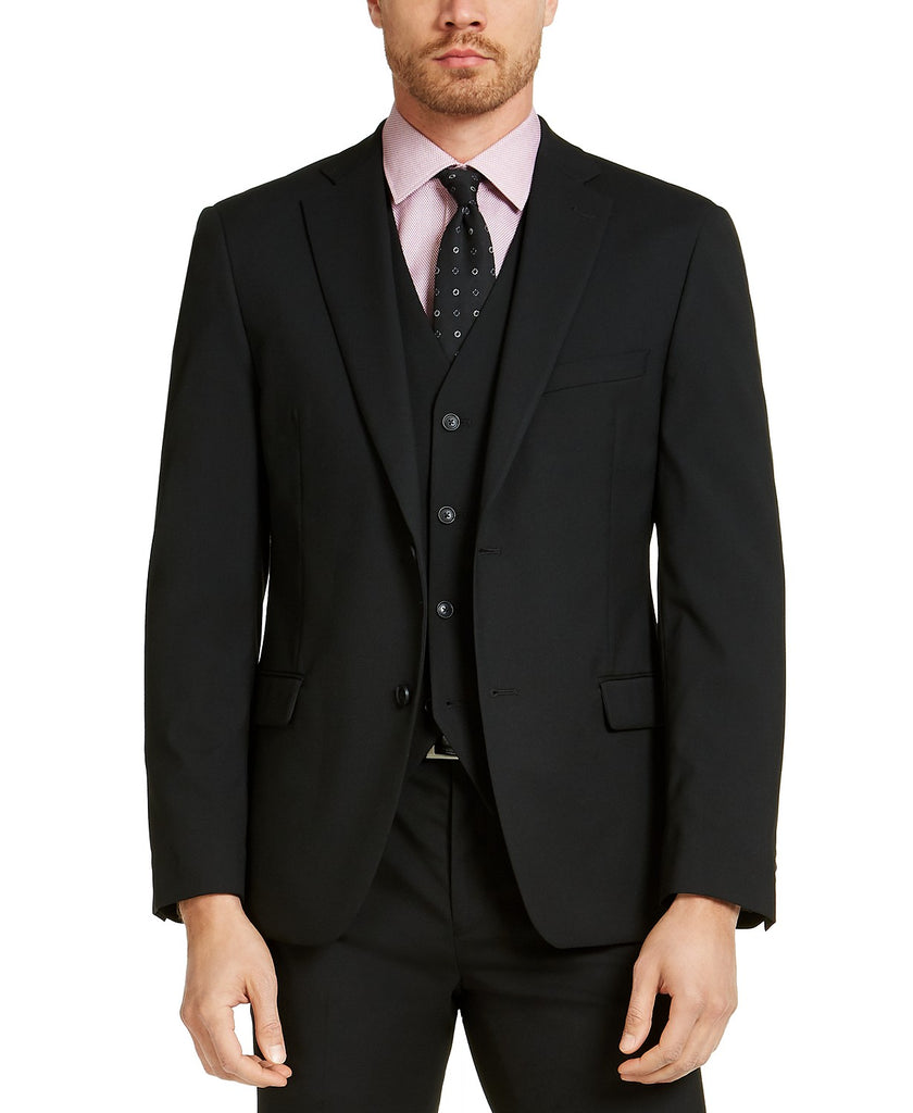 Alfani Men's Slim-Fit Stretch Solid Suit Jacket 42R Black