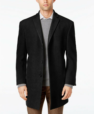 $395 Calvin Klein Men's Prosper X-Fit Overcoat Coat 46R Black