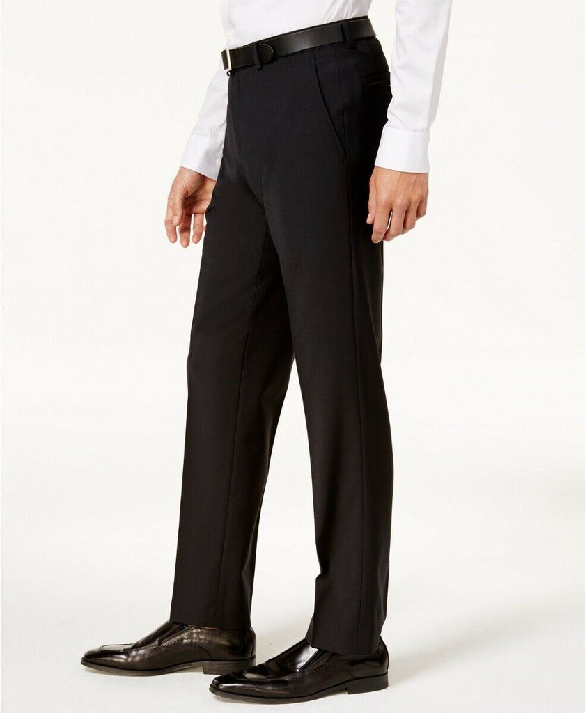 $175 Bar III Men's Slim-Fit Active Stretch Dress Pants 32 x 34 Black