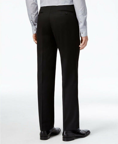 $135 Alfani Men's Stretch Performance Solid Slim-Fit Pants 33 x 32 Black