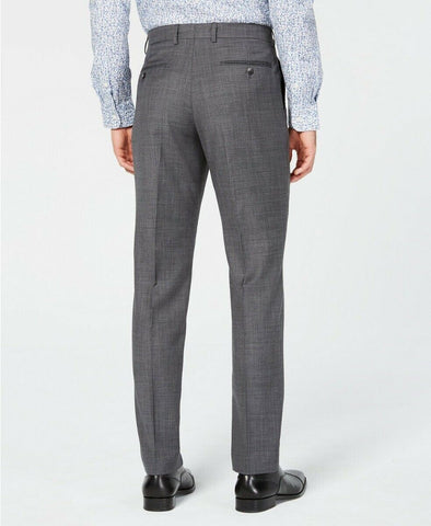 $150 Original Penguin Men's Slim-Fit Sharkskin Solid Dress Pants 36 x 32 Grey