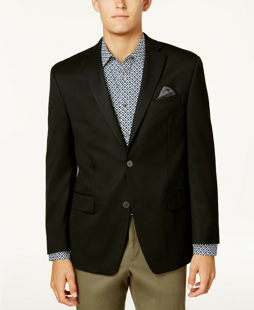 $295 Michael Kors Men's Classic-Fit Stretch Performance Blazer 40R Black