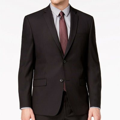 $400 Andrew Marc Men's Classic-Fit Stretch Black Micro-Grid Suit Jacket 40R NEW