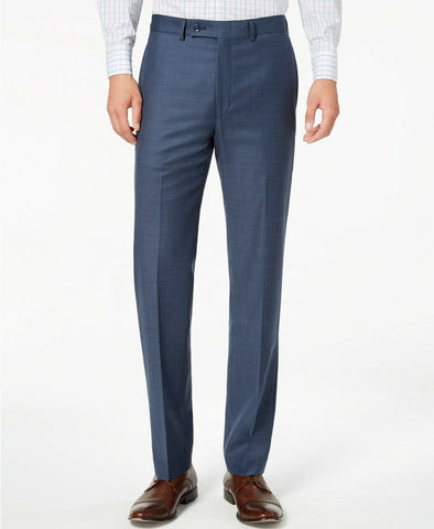 $175 Calvin Klein Men's Slim-Fit Stretch Blue Neat Dress Pants 32 x 30
