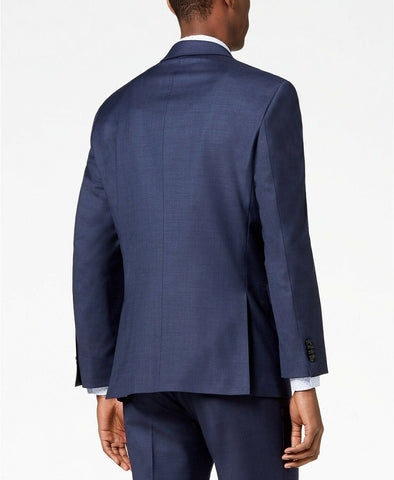 $425 Tommy Hilfiger Men's Modern-Fit TH Flex Stretch Suit Jacket 40L Blue