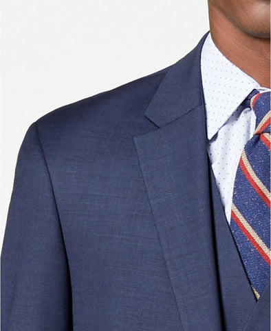$425 Tommy Hilfiger Men's Modern-Fit TH Flex Stretch Suit Jacket 52R Blue