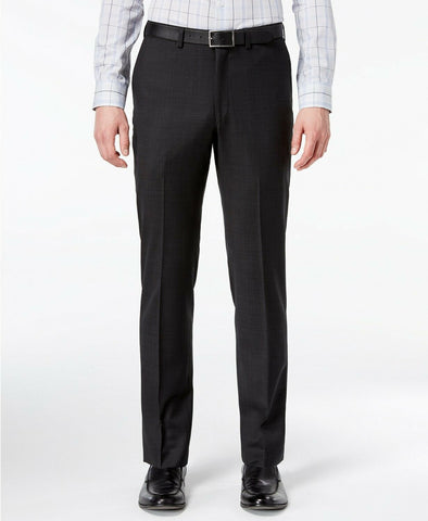 $225 DKNY Men's Modern-Fit Stretch Textured Dress Pants 40 x 32 Black