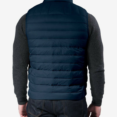 $125 Hawke & Co. Outfitter Packable Down Puffer Vest Small Navy Blue NEW