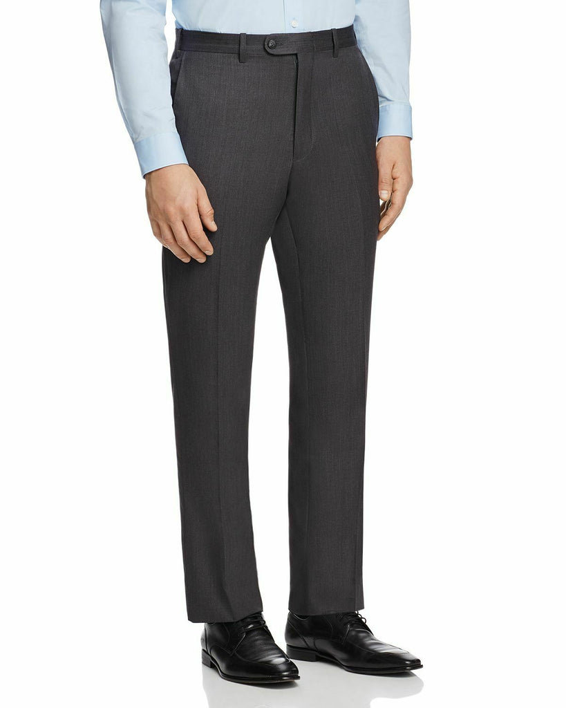 $155 MENS STORE BLOOMINGDALES Slim Fit Wool Dress Pants 34 x 30 Charcoal Grey