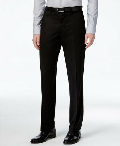 $135 Alfani Men's Stretch Performance Solid Slim-Fit Pants 34 x 30 Black