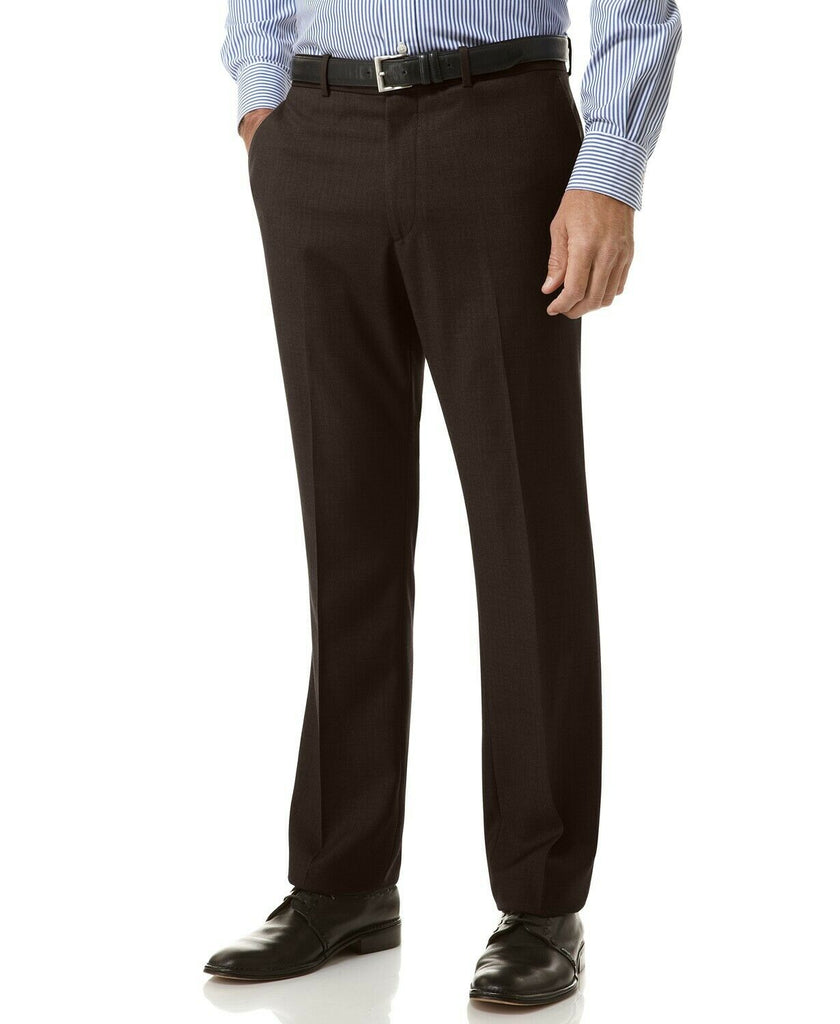 $85 Perry Ellis Portfolio Slim Fit Flat Front No-Iron Dress Pants 30 x 30 Black