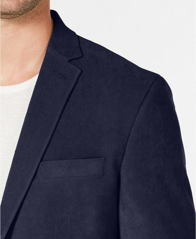 $295 Kenneth Cole Reaction Men's Slim-Fit Ultrasuede Sport Coat 40S Navy Blue