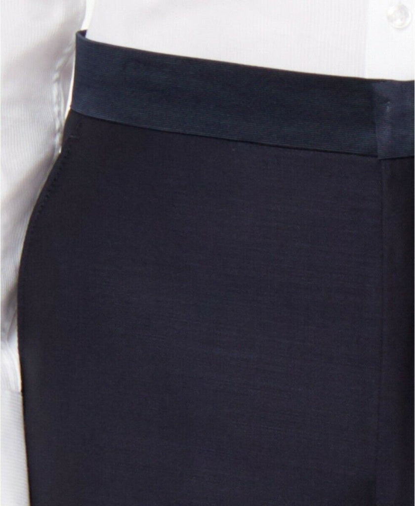 $175 Ryan Seacrest Distinction Navy Modern-Fit Tuxedo Pants 32 x 30 Wool